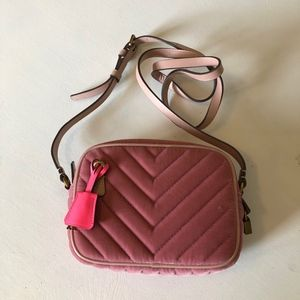 J.Crew Signet Bag in Pink Velour